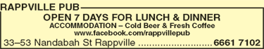Rappville Pub - Bundaberg Accommodation