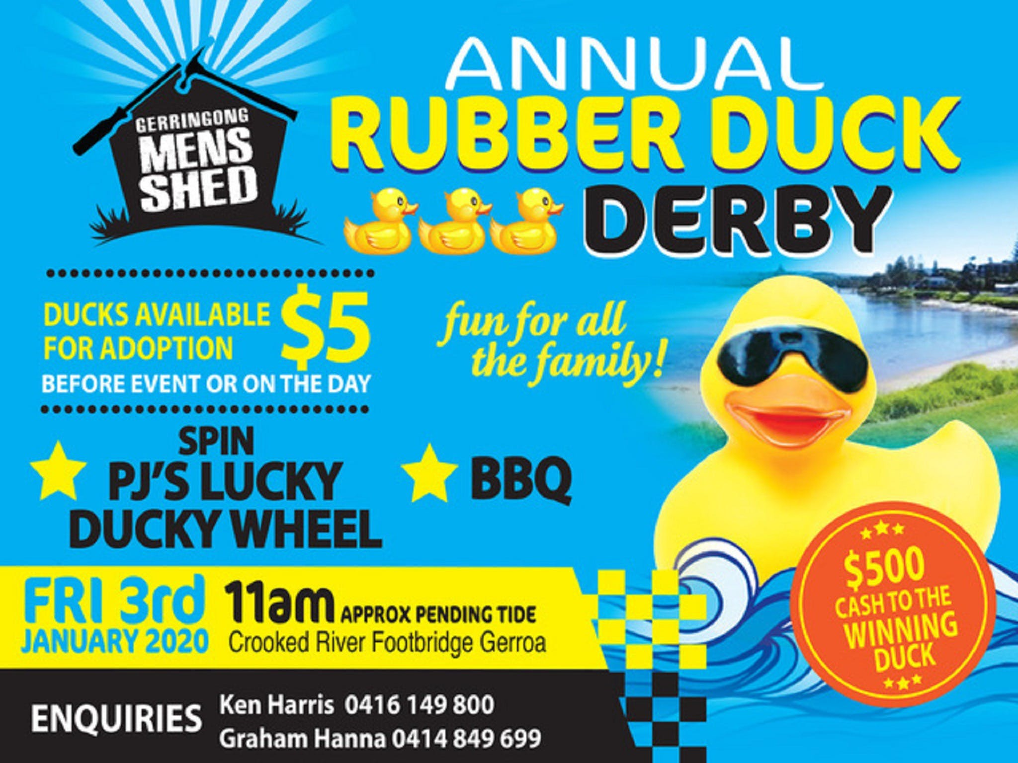 Gerringong Mens Shed Annual Duck Derby - Bundaberg Accommodation