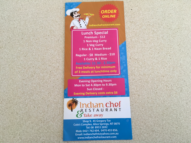 Indian chef restaurant  Take away - Bundaberg Accommodation